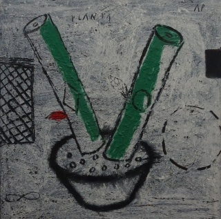 Antón Patiño. Planta. Óleo sobre lienzo — Cortesía de la Galería José Lorenzo