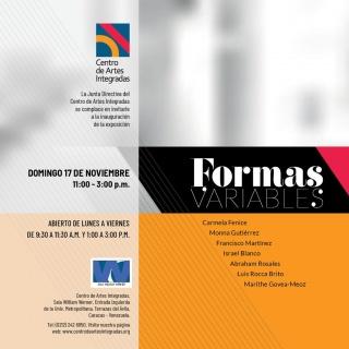 Formas variables. Exposición colectiva en el Centro de Artes Integradas