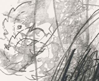 KLAUS MOSETTIG, Informel 27 (detail), 2016. Pencil on paper  © Klaus Mosettig — Cortesía de Uma Lulik