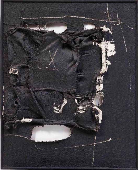 Manolo Millares, Cuadro 113 — Cortesía de la galería Leandro Navarro