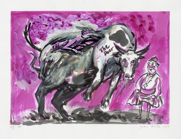 Sin título, figura 105 (2013), tinta y gouache sobre papel, 50x65cm, Cortesi?a Kalli Rolfe Contemporary Art, Melbourne.