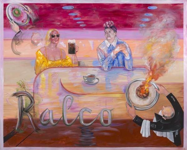 Ralco (2016), o?elo sobre tela, 200 x 250cm, Cortesía Kalli Rolfe Contemporary Art, Melbourne.