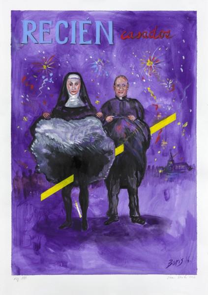 Sin título, figura 189 (2016), acrílico sobre papel, 100 x 70cm, Cortesía Kalli Rolfe Contemporary Art, Melbourne.