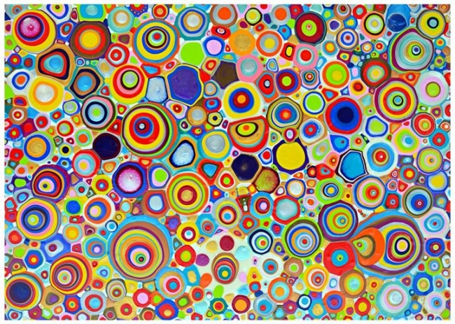 Renato Sant ' Ana | Charco Cuántica | Acrílico sobre lino | 100 x 140 cm | 2014