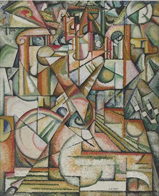 Amadeo de Souza-Cardoso. Sin título, ca. 1913 Museu Calouste Gulbenkian - Coleção Moderna // Cortesía del Museo Nacional Centro de Arte Reina Sofía