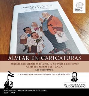 Alvear en Caricaturas. Imagen cortesía Museo del Humor