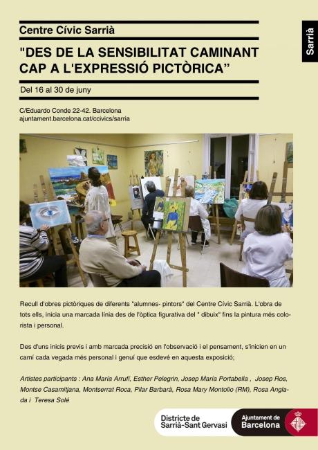 Cartel de la exposición del Centre Cívic  de Sarrià