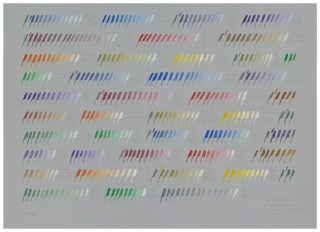From gray towards white three times through the chromatic circle, 1977