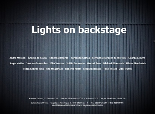 Lights on backstage