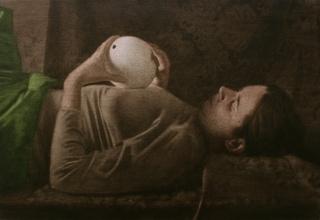 Antonio Montalvo. El huevo roto. 2017. Óleo sobre lienzo — Cortesía de la Galería Espacio Mínimo