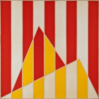 Paulo Roberto Leal, sem título (Série Rio Malandro), 1986, acrílica sobre tela, 90 x 90cm. Foto: Jaime Acioli