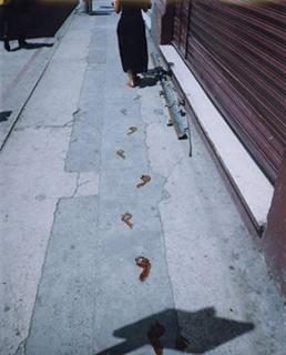 Regina José Galindo, ¿Quién puede borrar las huellas? / Who Can Erase the Traces?, 2003. Photo: José Osorio. Courtesy of the artist.