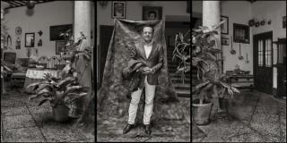 Juan Manuel Diaz Burgos. Diego de Miranda. Patio de la casa del caballero del verde gaba?n. Villanueva de los Infantes, 2016.