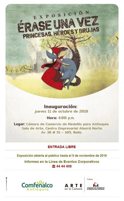 Érase una vez princesas, héroes y brujas. Imagen cortesía Cámara de Comercio de Medellín