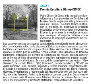 Premio Escultura Olmos