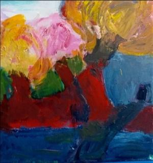 Águeda Rubio, Melque, 2019. Acrílico sobre lienzo, 50 x 50 cm.
