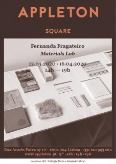 Fernanda Fragateiro. Materials Lab