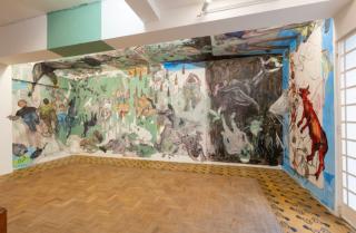 vista da exposição (obra Afresco, segundo corte) — Cortesía de Sé Galeria de Arte
