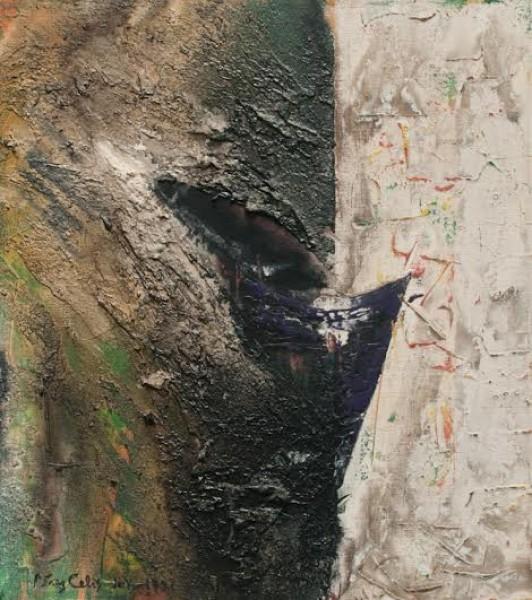 Pérez Celis, Pequeña Fuente, 1991. Acrílico/Tela. 46 x 40 cm.