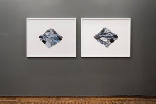 Andrea Galvani Higgs Ocean No. 18, 2011 Photo collage on archival paper, 104 x 148 cm.