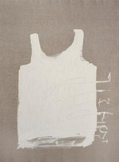 Samarreta blanca. Cortesía de Galería Toni Tàpies