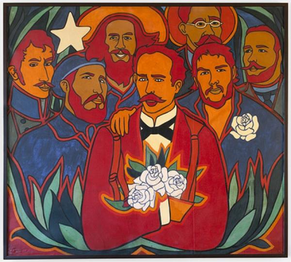 RAÚL MARTÍNEZ, ROSAS Y ESTRELLAS (ROSES AND STARS), 1972. Cortesía de CIFO y del Walker Art Center
