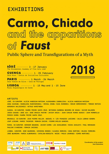 Carmo, Chiado and the apparitions of Faust - Cartel
