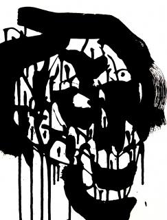 Fasim, DOWN BY LAW nº 37 - Acrylic paint on paper, 29,7 x 42 cm - 2017 — Cortesía del artista