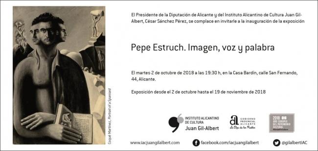 Pepe Estruch. Imagen, voz y palabra