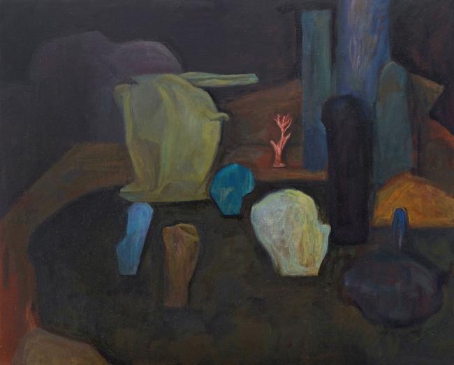 Morgan Bancon. Pleine nuit. 80 x 65 cm. Óleo sobre lienzo — Cortesía de Galería Caicoya art projects