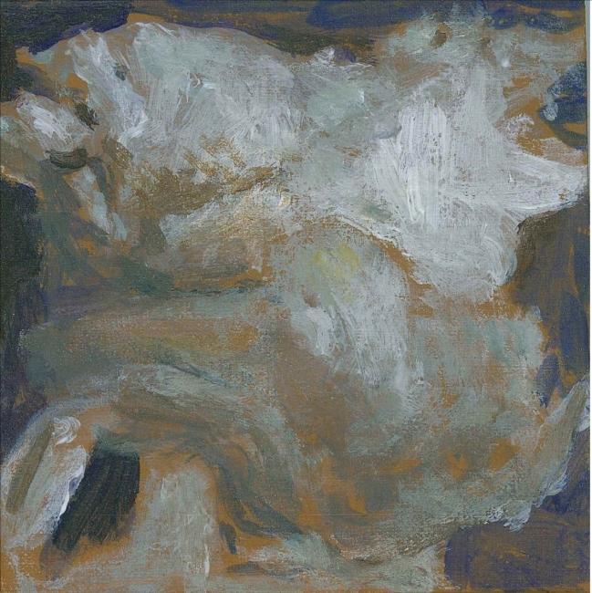 Morgan Bancon. Nuage ou pas. 12  x 12 cm. Acrílico sobre lienzo — Cortesía de Galería Caicoya art projects