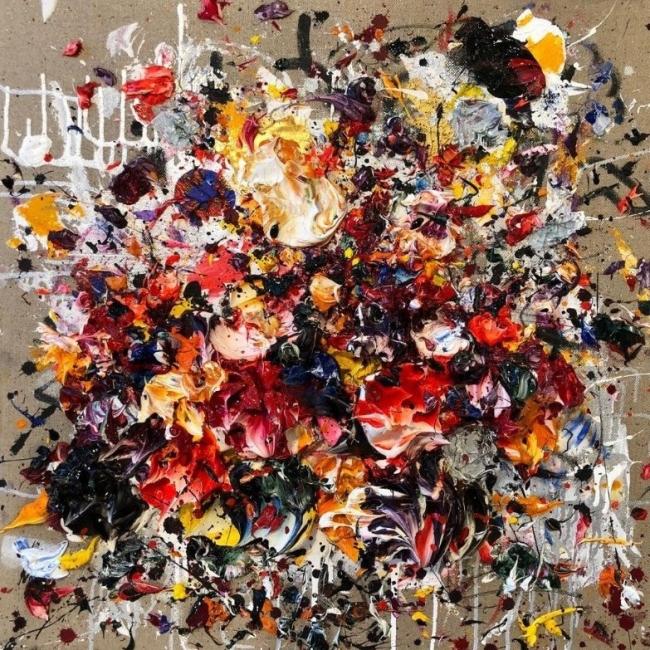 Ismael Lagares, Ocher Red — Cortesía de Aurora Vigil-Escalera Galería de Arte