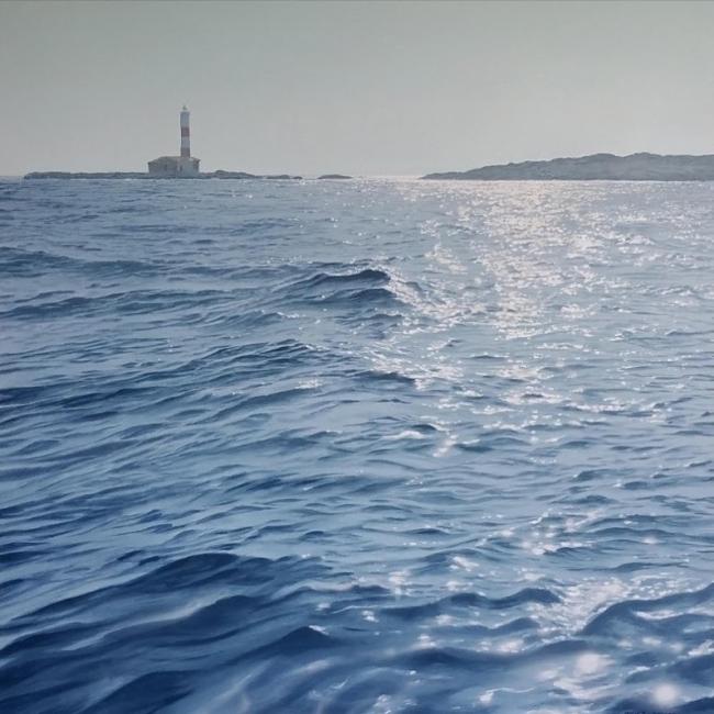 Javier Torices, Entre Ibiza y Formentera 14:22 — Cortesía de Aurora Vigil-Escalera Galería de Arte