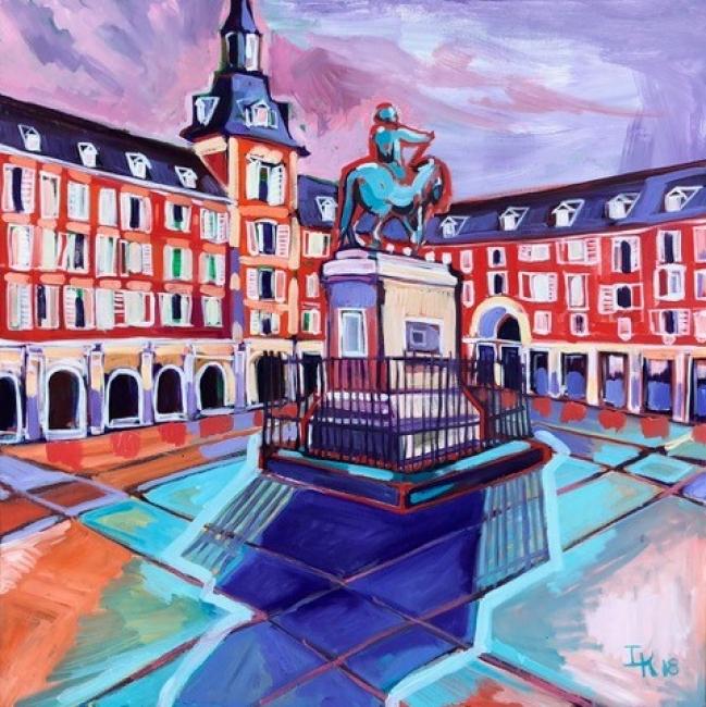 Plaza Mayor - Óleo y acrílico sobre lino - 75 x 75 cm