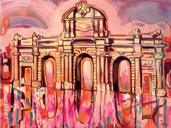 La puerta - Óleo y acrílico sobre lino - 90 x 70 cm