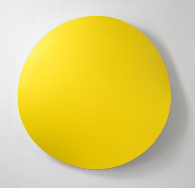 Jan Kalab, Bent Yelow, 120cm. 2019 — Cortesía de Plastic Murs
