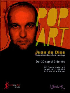 cartel Juan de dios pop art