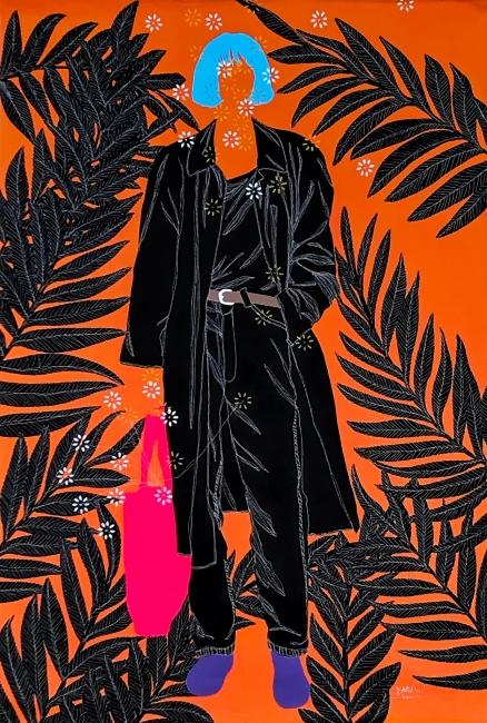 Moustapha Baïdi Oumarou - Sobre style - 2020 - 150cm Alt x 100cm A - Acrílico sobre tela