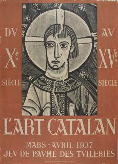 Cartel de la exposición L'Art Catalan, Paris, 1937 © Museu Nacional d'Art de Catalunya, Barcelona, 2021 — Cortesía del MNAC