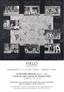 Alain Arias-Misson, Poesía de calle y poesía de transparencias