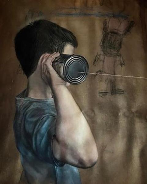 Edu Cardoso, Óleo sobre Canvas - detalhe