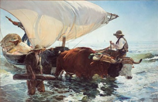 Joaquín Sorolla, 'The Return from Fishing', 1894, Paris, Musée d'Orsay © Musée d'Orsay, Dist. RMN-Grand Palais / Patrice Schmidt — Cortesía de The National Gallery