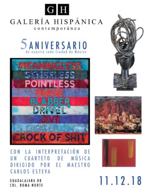 V Aniversario de Galería Hispánica en Ciudad de México. Imagen cortesía Galería Hispánica