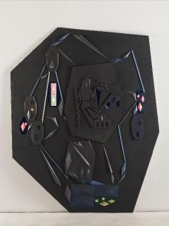 Vicente Blanco, Lo que concluye. 2018. 150x125 cm. Collage, papel y acrílico sobre madera — Cortesía de Galería Silvestre