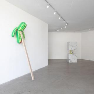 Vista de instalación, Meanwhile en Galería CURRO