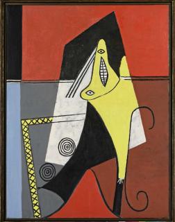 Pablo Picasso Femme dans un fauteuil [Figure], 1927 Huile sur toile, 128 x 97.8 cm Fondation Beyeler, Riehen/Basel, Collection Beyeler. Photo: Robert Bayer © Succession Picasso 2019