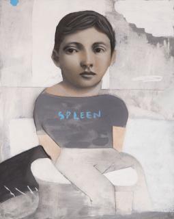 Spleen III. Técnica mixta sobre papel. 50 x 40 cm. 2020 — Cortesía de My Name's Lolita Art