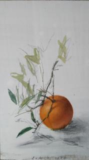 Leticia Feduchi, Fruita, oli sobre fusta — Cortesía de La Galeria Batlle Argimon