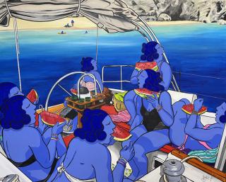 Las siete magníficas, 130x162 cm Marc Jesús Galeria Jordi Barnadas