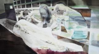 Bruno Belo, O Conserto. Acrílica sobre tela. 70x130cm. 2012
